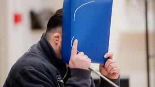 L'ancien infirmier Niels Högel lors de son procès en Allemagne, le 30 octobre 2018. (JULIAN STRATENSCHULTE / DPA POOL / AFP)