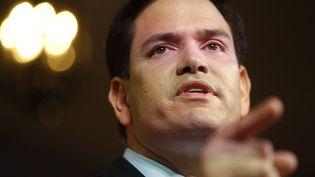 Marco Rubio lors de son discours annonçant sa candidature à Miami (Floride), le 13 avril 2015. (CARLO ALLEGRI / REUTERS)