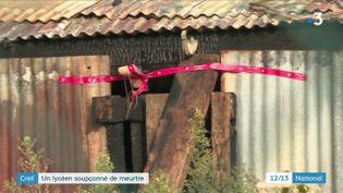 Le cabanon dans lequel le corps de la victime a été retrouvé, le 27 octobre 2019 à Creil (Oise). (FRANCE 3)