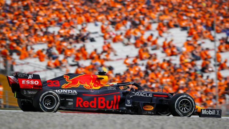 Le Néerlandais Max Verstappen a remporté au volant de sa Red Bull, le Grand Prix d'Autriche, dimanche 4 juillet 2021. (FLORENT GOODEN / DPPI / AFP)