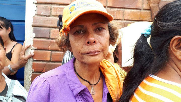Victoria, 57 ans, compte sur les distributions de nourriture pour survivre. (BENJAMIN ILLY / RADIO FRANCE)