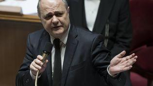 Bruno Le Roux, ministre de l'Interieur, à l'Assemblée nationale, le 7 décembre 2016. (IAN LANGSDON / EPA)