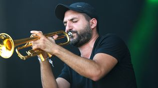 Ibrahim Maalouf, ici aux Vieilles Charrues (2016), jouera à Jazz in Marciac le 1 août.  (FRED TANNEAU / AFP)