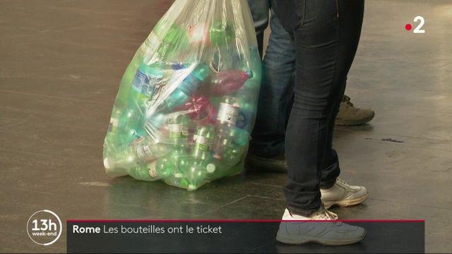 Rome : un ticket de métro contre des bouteilles en plastique