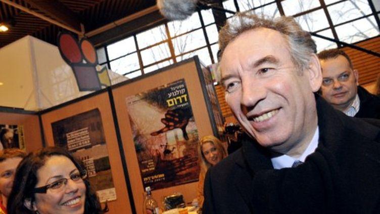 François Bayrou à Clermont Ferrand. (THIERRY ZOCCOLAN / AFP)