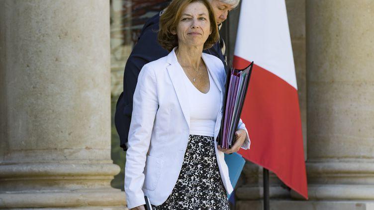 Florence Parly à l'Elysée, le 3 août 2018. (GEOFFROY VAN DER HASSELT / AFP)