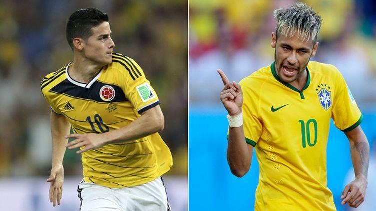 (Le duel James Rodriguez - Neymar s'annonce comme l'un des grands moments du quart de finale © Maxppp)