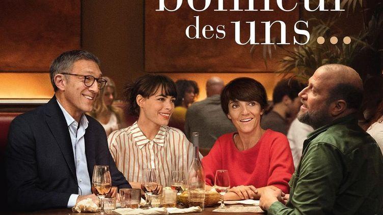 """Vincent Cassel, Bérénice Bejo, Florence Foresti et François Damiens dans """"Le Bonheur des uns..."""" de Daniel Cohen. (SND)"""