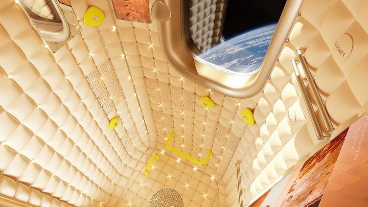 Rendu 3D d'une future cabine privée de tourisme spatial (Axiom)