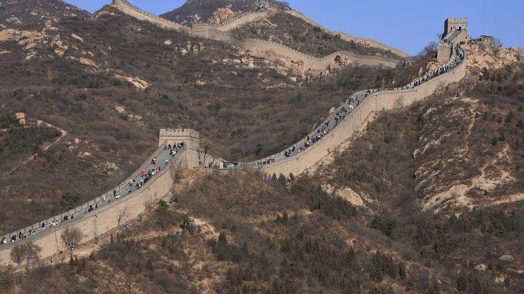Les remparts de la Grande Muraille de Chine, près de Pékin, le 9 janvier 2012. (STEPHANE FRANCES / ONLY WORLD / AFP)