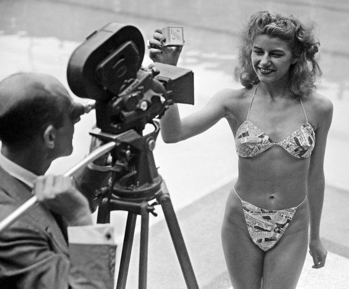 Le bikini fait son apparition à Molitor en 1946  (AFP)