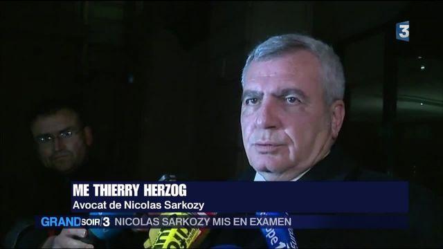 Sarkozy mis en examen : la réaction son avocat, Me Herzog