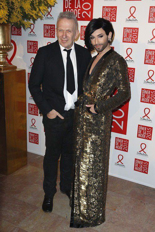 Jean Paul Gaultier et Conchita Wurst  (THOMAS SAMSON / AFP)