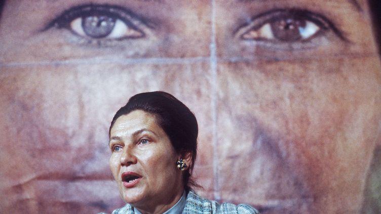 Simone Veil, le 1er mai 1979 à Paris. (AFP)