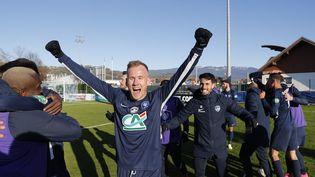 Victorieux contre Le Puy, à Rumilly (Rhône-Alpes), le 7 avril 2021, Rumilly Vallières est le petit poucet de la Coupe de France aux cotés de Canet-en-Roussillon. (MAXPPP)