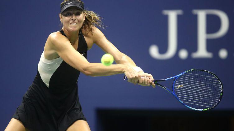 La Russe Maria Sharapova en difficulté (JULIAN FINNEY / GETTY IMAGES NORTH AMERICA)