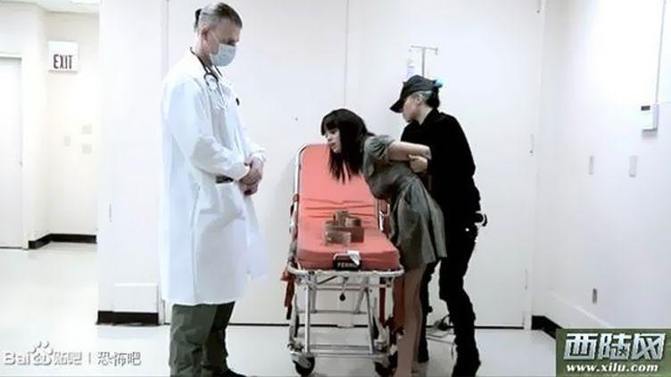 Capture d'écran d'une vidéo pornographique utilisée pour illustrer des sujets sur la peine de mort, le 7 août 2013 en Chine. (SHANGAIIST / FRANCETV INFO)