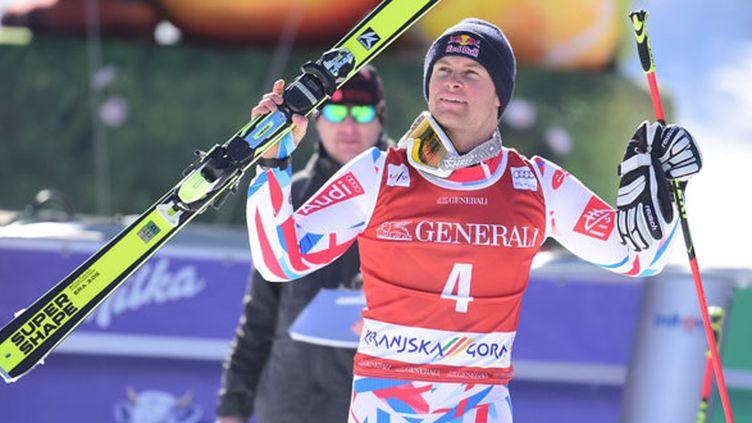 La joie du skieur français Alexis Pinturault