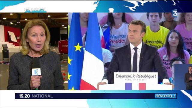 Emmanuel Macron :  le candidat se veut rassembleur à la Villette
