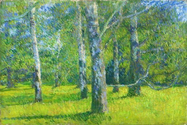 Arbres à Laxenburg - Matija Jama (1872-1947)  (Galerie natiobale, Ljubljiana)