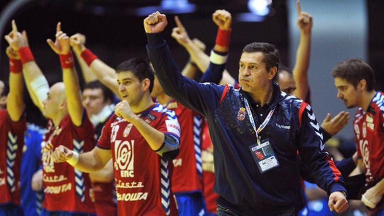 Le coach serbe Veselin Vukovic (ANDREJ ISAKOVIC / AFP)