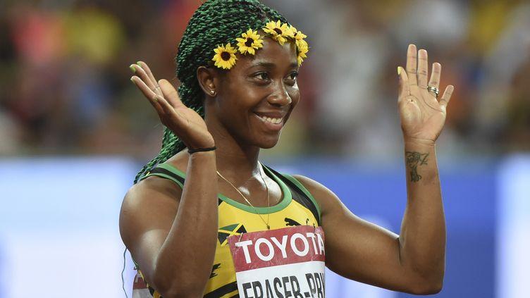 Shelly-Ann Fraser-Pryce, championne du monde du 100m à Pékin (GREG BAKER / AFP)