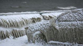 Les rives du lac Erié déjà gelées dans la ville de Hamburg (Etat de New York), en janvier 2016 (LINDSAY DEDARIO / REUTERS)