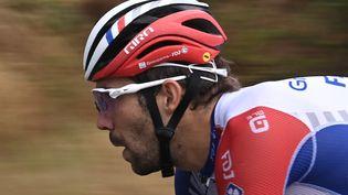 Thibaut Pinot, le 29 août 2020 lors du prologue du Tour de France à Nice (Alpes-Maritimes). (ANNE-CHRISTINE POUJOULAT / AFP)