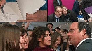 François Hollande avec ses lecteurs à Toulouse  (Capture d'image Culturebox)