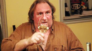 Gérard Depardieu visite la région des Langhes (Italie), le 22 novembre 2012. (MAXPPP)