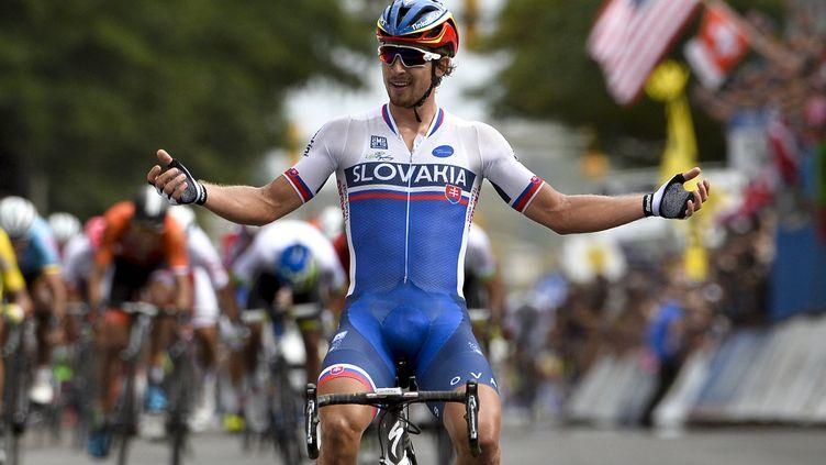 Peter Sagan, nouveau champion du monde sur route. (DIRK WAEM / BELGA MAG)