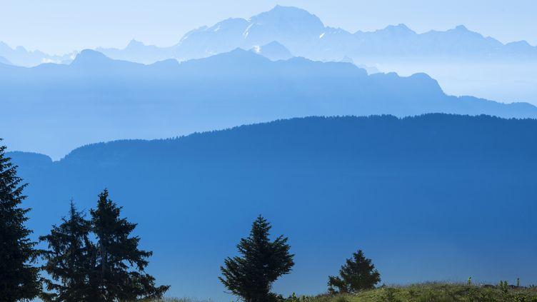 Le massif de Semnoz (Haute-Savoie) où l'accident a eu lieu en 2015. (GILLES LANSARD / AFP)