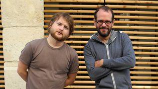 Raphaêl Schwab (contrebasse) et Julien Soro (saxophone) le 15 septembre 2014 à Paris  (Annie Yanbékian)