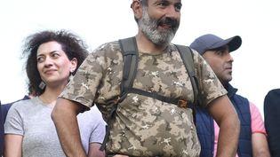 Nikol Pachinian, le 2 mai 2018 à Erevan (Arménie). (ASATUR YESAYANTS / SPUTNIK / AFP)