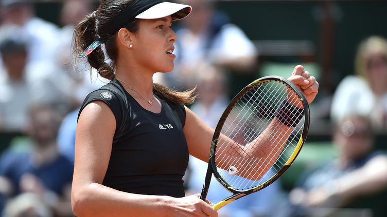 La Serbe Ana Ivanovic, le 2 juin 2015 à Roland-Garros. (PASCAL GUYOT / AFP)