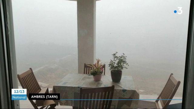 les feux allumés par des agriculteurs du Tarn plongent un village dans le brouillard