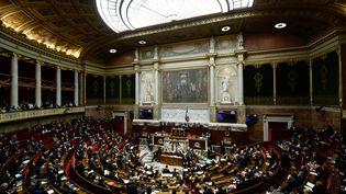 Vue de l'Assemblée nationale, à Paris, le 23 janvier 2018. (PHILIPPE LOPEZ / AFP)