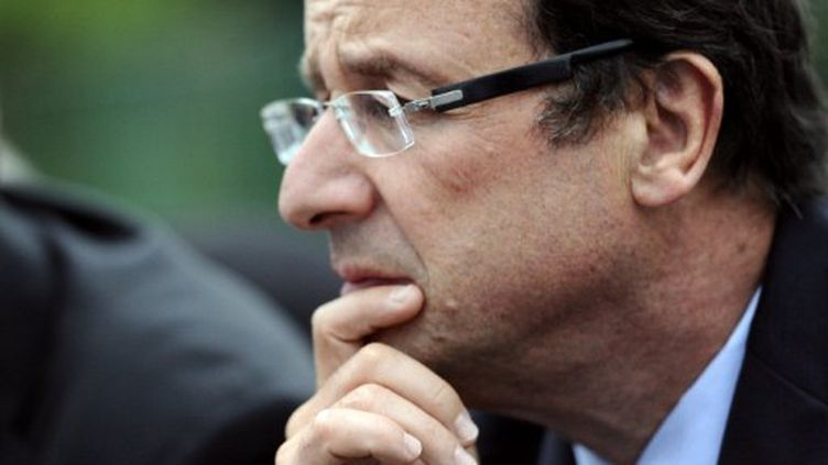 François Hollande, candidat à la primaire socialiste. (MIGUEL MEDINA / AFP)