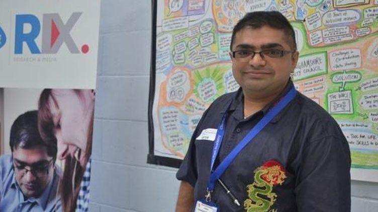 Ajay Choksy,assistant-technicien pour le progamme de rechercheRix Media. (By Rix Media Research)