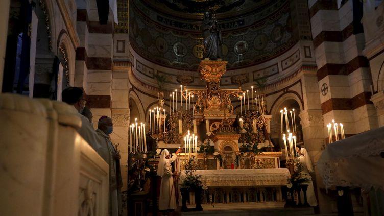 Église Notre-Dame de la Garde à Marseille, en 2020 (VALLAURI NICOLAS / MAXPPP)