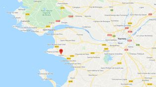 Pornic (Loire-Atlantique). (CAPTURE D'ECRAN GOOGLE MAPS)