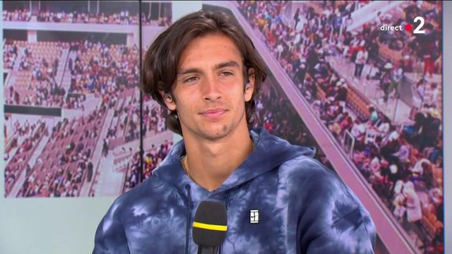 Lorenzo Musetti sur le plateau de France 2 dimanche 6 juin