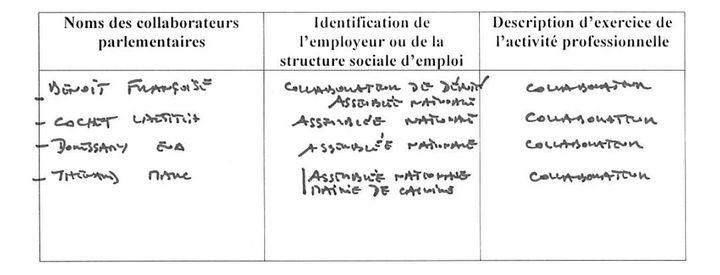 Capture d'écran de la déclaration d'intérêts de Philippe Cochet. (HAUTE AUTORITE POUR LA TRANSPARENCE DE LA VIE PUBLIQUE)