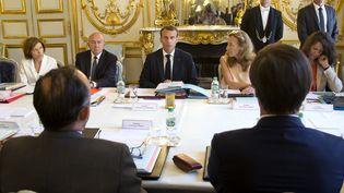 Le Conseil des ministres du 3 août à l'Elysée. (MICHEL EULER / POOL)