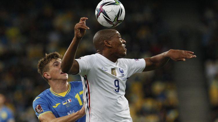 Anthony Martial a égalisé pour l'équipe de France en Ukraine (1-1), samedi 4 septembre 2021. (ANATOLII STEPANOV / ANADOLU AGENCY)