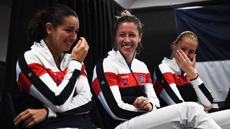 Les joueuses françaises  (ANNE-CHRISTINE POUJOULAT / AFP)