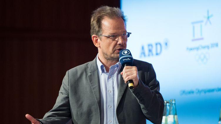 Le journaliste allemand Hajo Seppelt, le 12 décembre 2017 à Berlin (Allemagne). (ANNEGRET HILSE / SVEN SIMON / AFP)