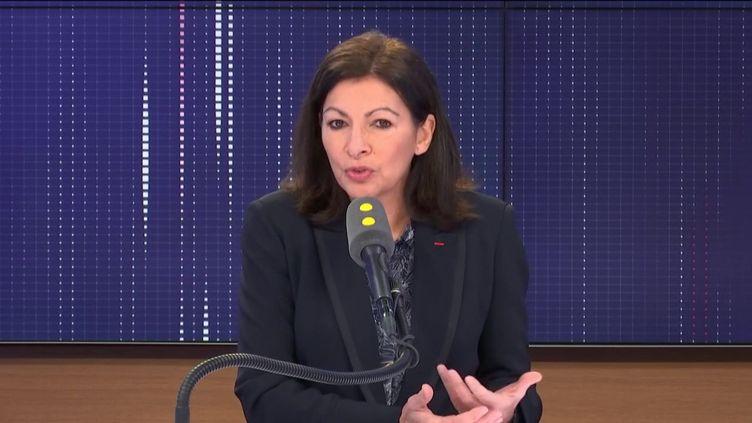 Anne Hidalgo, jeudi 30 janvier, sur franceinfo. (FRANCEINFO)