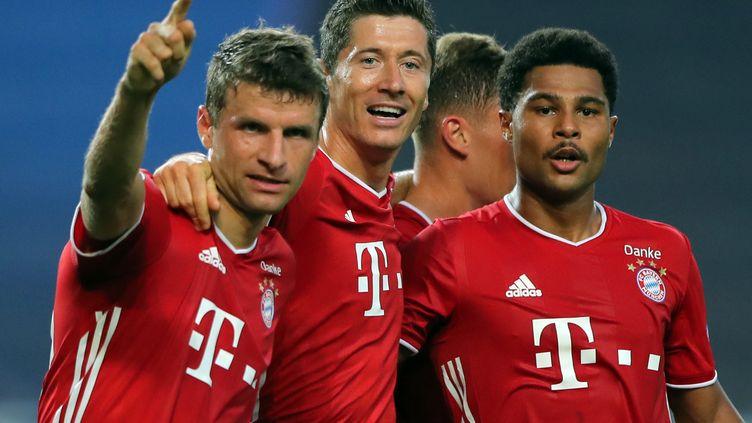 Müller, Lewandowski et Gnabry disputeront la finale de la Ligue des champions. (MIGUEL A. LOPES / POOL)