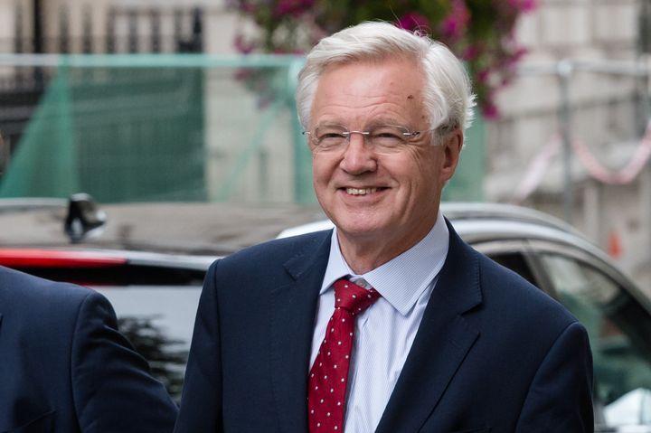 David Davis, ancien secrétaire d'Etat au Brexit,arrive àDowning Street le 02 September, 2019à Londres. (WIKTOR SZYMANOWICZ / NURPHOTO / AFP)
